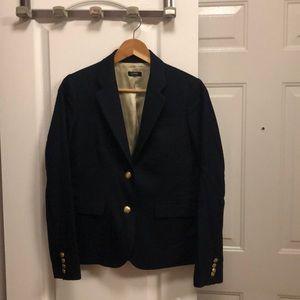 Jcrew Navy Blue Wool Blazer